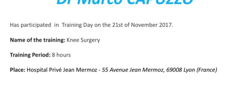 Knee Surgery con il Dr Cottet-Sonnery